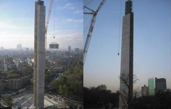Bicentennial Tower in Mexico City